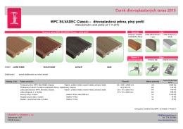 Terasy WPC Silvadec Classic (plný profil)