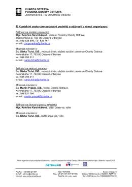 Kontakty pro podávání stížnosti v organizaci i nestranné instituce