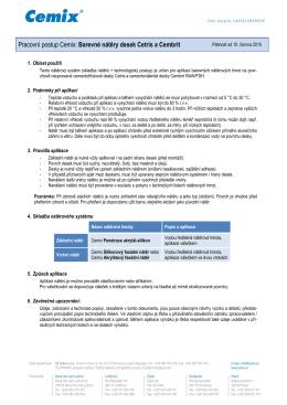 Pracovní postup Cemix: Barevné nátěry desek Cetris a Cembrit