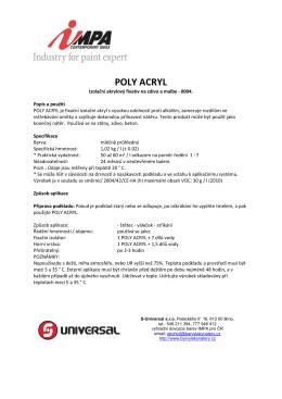 POLY ACRYL - protipozarnibarva.cz