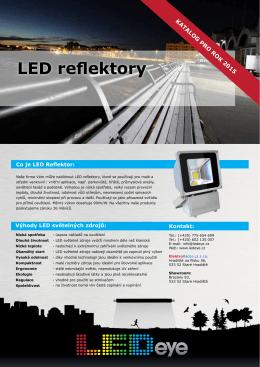 katalogový list- LED reflektory