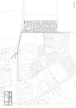 Situace stavby v katastrální mapě