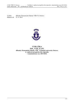 Příklad Směrnice pro řízení dokumentů
