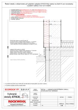 Vybrané detaily ETICS