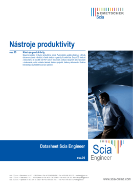 Nástroje produktivity - Scia Resource Centre
