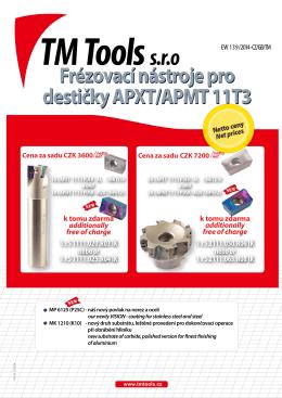 Frézovací nástroje pro destičky APXT/APMT 11T3