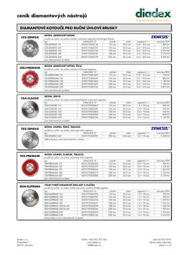 diamantové nástroje ceník - 2015-10-01/CZ