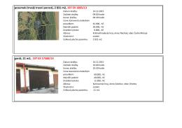 2 831 m2, 197 EX 1885/13 garáž, 21 m2, 197 EX 17588/14