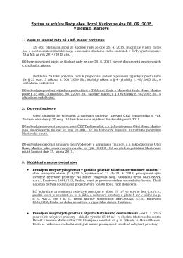Zpráva z rady obce č. 12/2015