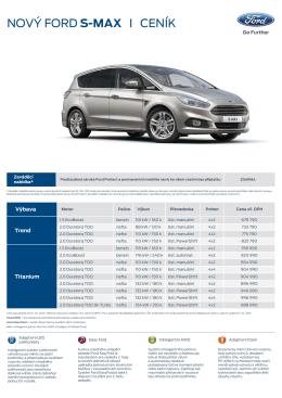 Ceník nového Fordu S-Max