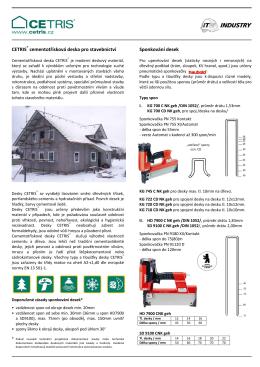 CETRIS® cementotřísková deska pro stavebnictví