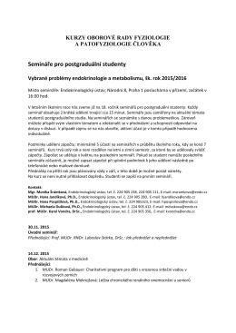 Semináře pro postgraduální studenty