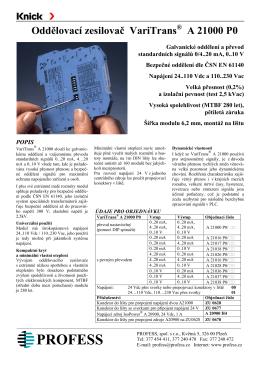 Oddělovací zesilovač VariTrans A 21000 P0