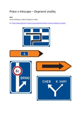 Práce v Inkscape – Dopravní značky
