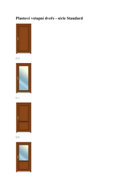 Plastové vstupní dveře