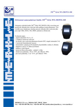 Ochranná samozatmívací kukla 3M Série WS-300 - merkle