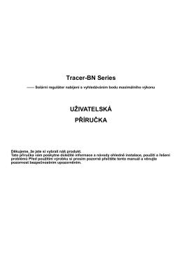 Tracer-BN Series UŽIVATELSKÁ PŘÍRUČKA - Campi