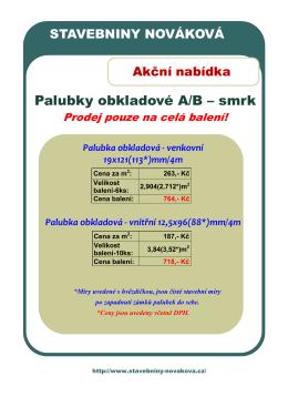 Stáhnout pdf - Stavebniny nováková