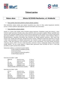 Silnice III/32426 Nechanice, ul. Hrádecká