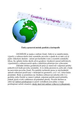 Geodézie a kartografie