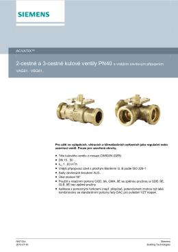 2-cestné a 3-cestné kulové ventily PN40 s vnějším