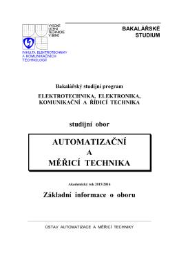 B-AMT 2015/16. - Ústav automatizace a měřicí techniky
