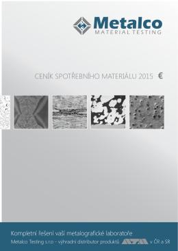 CENÍK SPOTŘEBNÍHO MATERIÁLU 2015 €