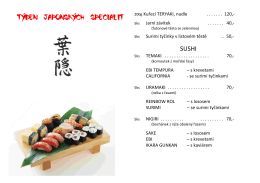 Týden JAPONSKÝCH specialit