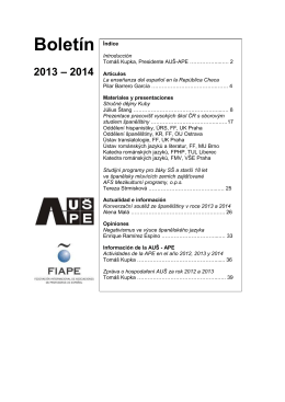 Boletín 2013 – 2014