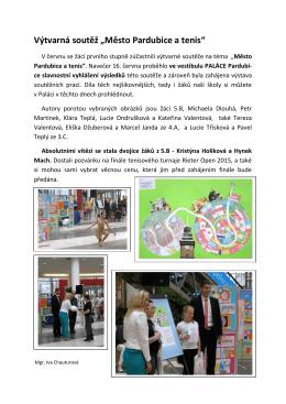 """Výtvarná soutěž """"Město Pardubice a tenis"""""""