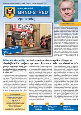 Zpravodaj MČ Brno-střed 10/2015 (říjen)