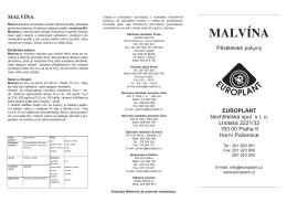 MALVÍNA - EUROPLANT šlechtitelská, spol. s ro