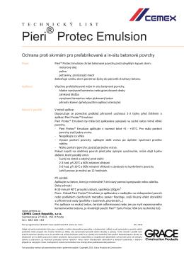 Technický list Pieri Protec Emulsion