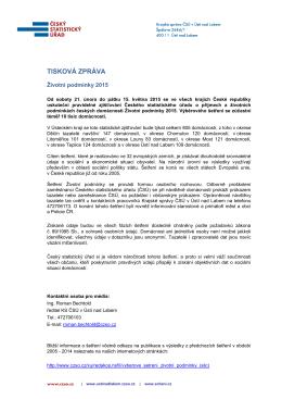 Životní podmínky 2015 - Český statistický úřad