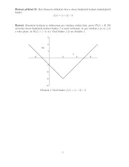 Řešený příklad II.–2.c: Stanovte definiční obor a obory funkčních
