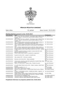 30.03.2015 Usnesení valné hromady (rady města)