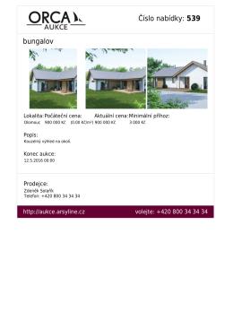 Číslo nabídky: 539 bungalov