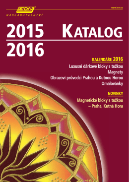 Katalog kalendářů 2016