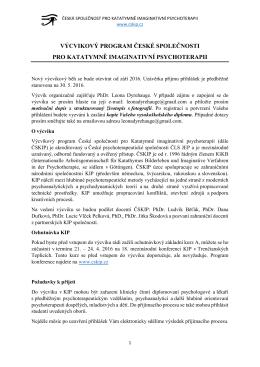 výcvikový program české společnosti pro katatymně