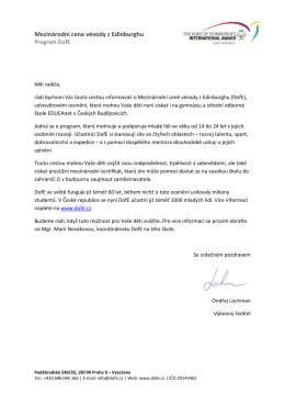 Spolupráce DofE a EDUCAnetu ZDE