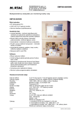 Katalogový list MURTAC OMT20 SXD/DXN
