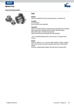 Datový list K0357 Upínací trny