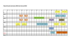 Rozvrh kurzů od února 2015 do června 2015