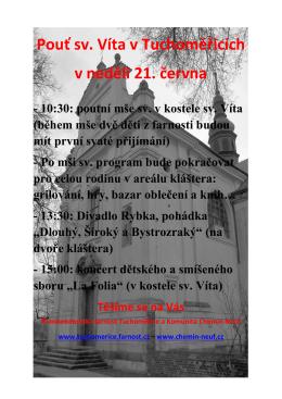 Pouť sv. Víta v Tuchoměřicích v neděli 21. června