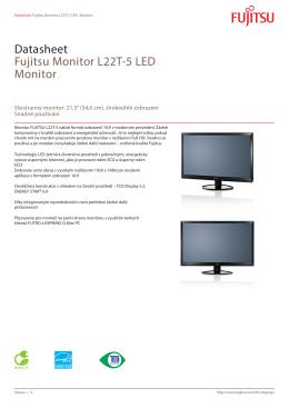 Datasheet Fujitsu Monitor L22T