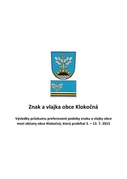 Znak a vlajka obce Klokočná