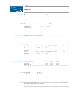 Kyslík 3.5 - Katalog plynů Linde Gas