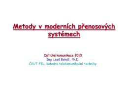 Metody modulace a zpracování signálu u optických