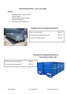 Ceník kontejnerové dopravy
