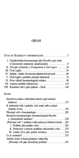 Fenomenologické spisy. II, Co je existence